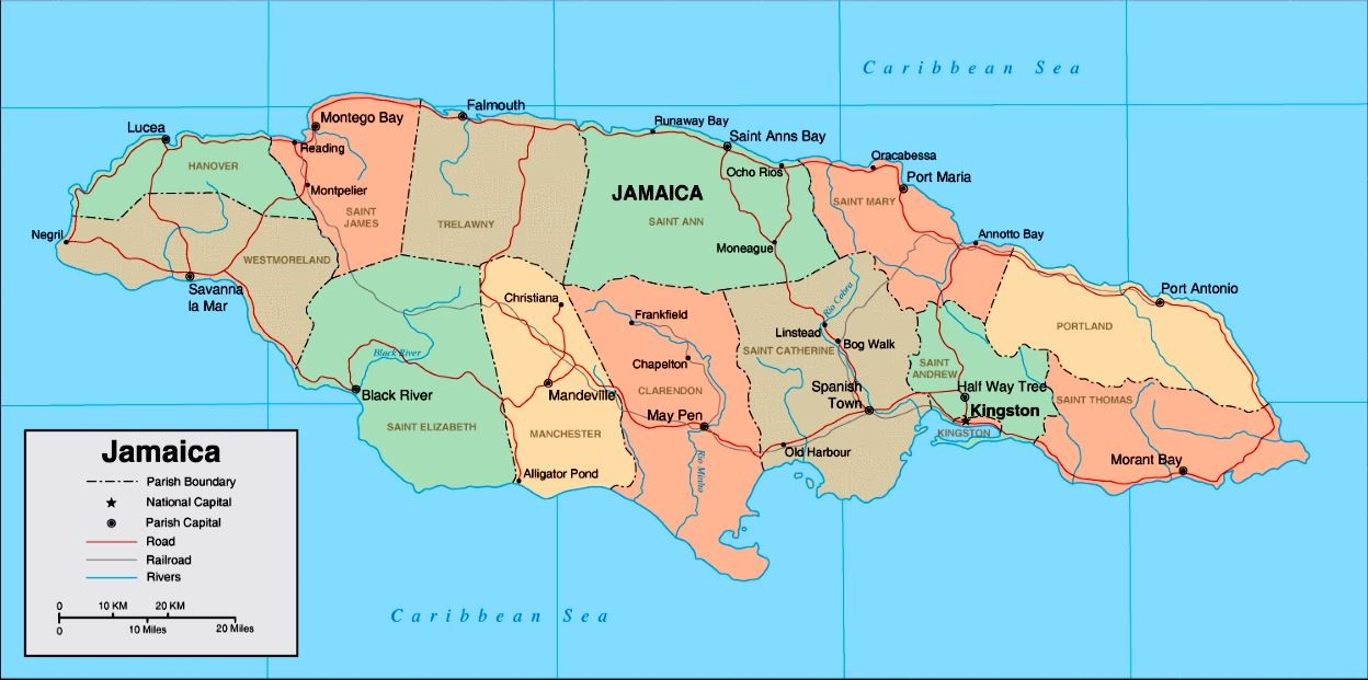 Map of Jamaica  The Official Website of the Roman Catholic